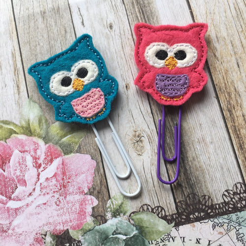 Felt Owl Paper Clip-The Persnickety Co