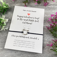Load image into Gallery viewer, Happy Valentines Purr-Fect Cat Mum - Wish Bracelet-8-The Persnickety Co