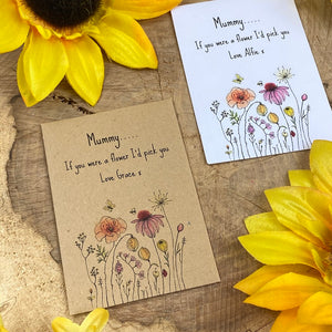 Mummy If You Were A Flower Mini Kraft Envelope with Wildflower Seeds-2-The Persnickety Co