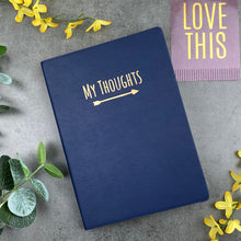 Load image into Gallery viewer, My Thoughts Journal Navy Blue-3-The Persnickety Co