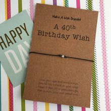 Load image into Gallery viewer, A 40th Birthday Wish - Star-2-The Persnickety Co