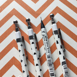 Black and White Mechanical Pencil-4-The Persnickety Co