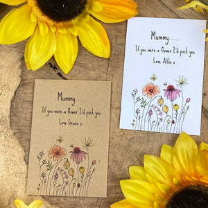Mummy If You Were A Flower Mini Kraft Envelope with Wildflower Seeds-7-The Persnickety Co
