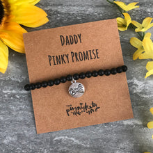Load image into Gallery viewer, Daddy Pinky Promise Black Onyx Bracelet-7-The Persnickety Co