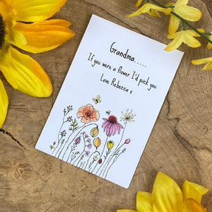 Grandma If You Were A Flower Mini Envelope with Wildflower Seeds-2-The Persnickety Co