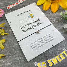 Load image into Gallery viewer, Mummy To Bee Wish Bracelet On Plantable Seed Card-3-The Persnickety Co