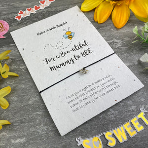 Mummy To Bee Wish Bracelet On Plantable Seed Card-3-The Persnickety Co