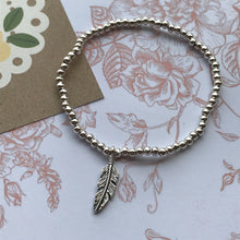 Load image into Gallery viewer, Beaded Charm Bracelet - Feathers Appear When Angels Are Near-5-The Persnickety Co