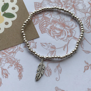 Beaded Charm Bracelet - Feathers Appear When Angels Are Near-5-The Persnickety Co