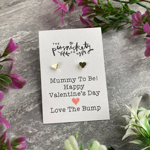 Mummy To Be Happy Valentine's Day Earrings-3-The Persnickety Co