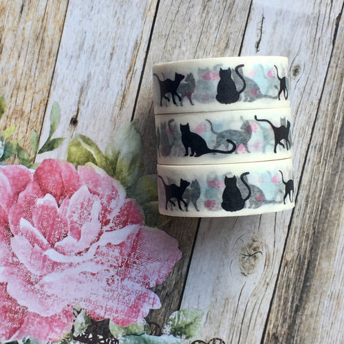 Black Cat Washi Tape-The Persnickety Co