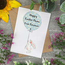 Load image into Gallery viewer, Happy Easter Balloon Rabbit Card