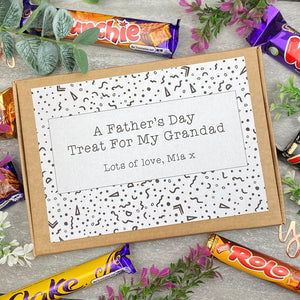 Grandad Fathers Day Treat - Personalised Chocolate Box-The Persnickety Co