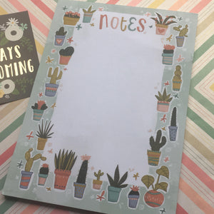 Cactus A5 Notepad-3-The Persnickety Co
