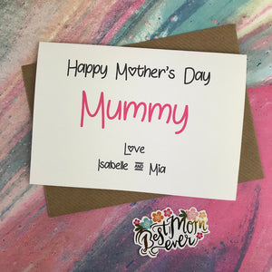 Happy Mother's Day Mummy/Mum/Mom/Mam Personalised Card-6-The Persnickety Co
