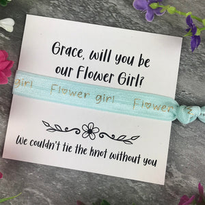 Flower Girl Proposal Hair Tie / Wrist Band-5-The Persnickety Co