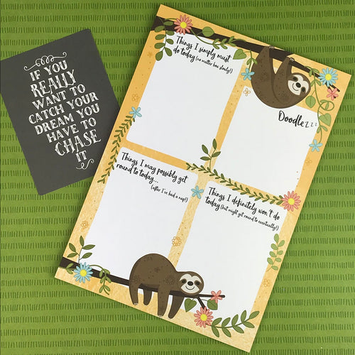 Sloth A5 Notepad-The Persnickety Co