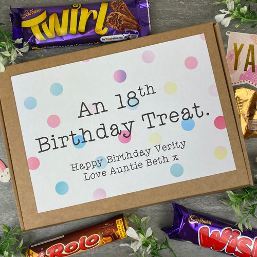 18th Birthday Personalised Chocolate Box-The Persnickety Co