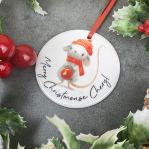 Personalised Christmouse Hanging Decoration-5-The Persnickety Co