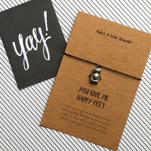 You Give Me Happy Feet Wish Bracelet-The Persnickety Co