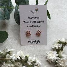 Load image into Gallery viewer, Thanks For BEE-ing Such A Great Teacher /Teaching Assistant Bee Earrings-4-The Persnickety Co