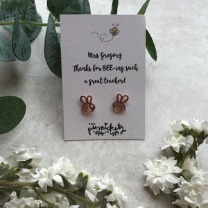 Thanks For BEE-ing Such A Great Teacher /Teaching Assistant Bee Earrings-4-The Persnickety Co