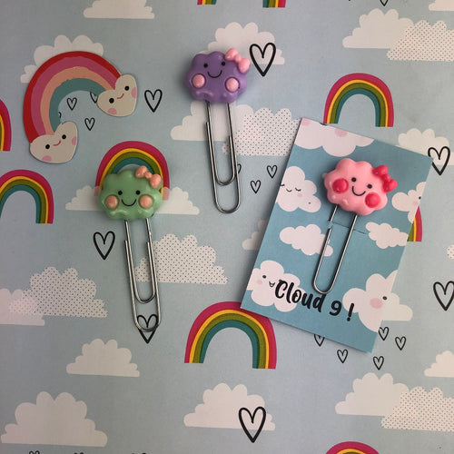 Happy Cloud Resin Paper Clip-The Persnickety Co