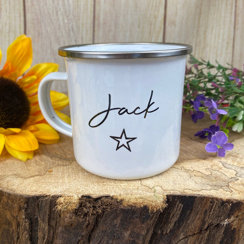 Personalised Enamel Star Mug-The Persnickety Co