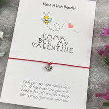Load image into Gallery viewer, Personalised Bee My Valentine Wish Bracelet-8-The Persnickety Co