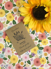 Load image into Gallery viewer, Grandma Thank You For Helping Me Grow Mini Kraft Envelope with Wildflower Seeds-4-The Persnickety Co
