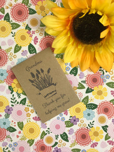 Grandma Thank You For Helping Me Grow Mini Kraft Envelope with Wildflower Seeds-4-The Persnickety Co