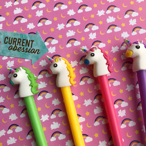 Bright Unicorn Gel Pen-8-The Persnickety Co