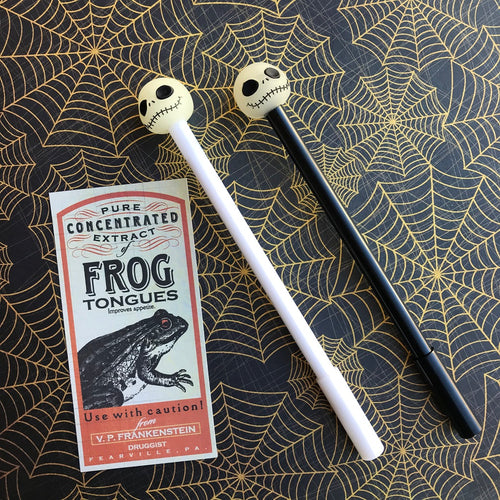 Glow In The Dark Skull Head Gel Pen-The Persnickety Co