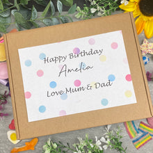 Load image into Gallery viewer, Happy Birthday Personalised Sweet Box-5-The Persnickety Co