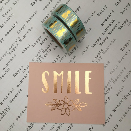 Pineapple Washi Tape - Teal-The Persnickety Co