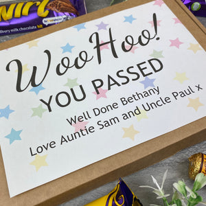 Woo Hoo! You Passed - Personalised Chocolate Box-9-The Persnickety Co