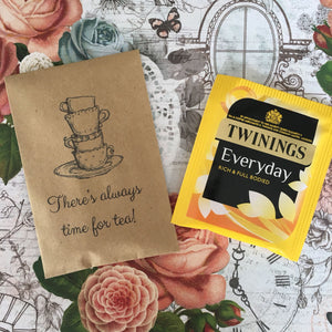There's Always Time For Tea Mini Kraft Envelope with Tea Bag-3-The Persnickety Co