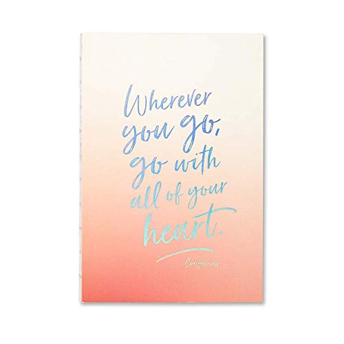 Orange Ombre Wherever You Go, Go With All of Your Heart Notepad-The Persnickety Co