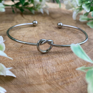 Will You Be My Bridesmaid Knot Bangle-3-The Persnickety Co