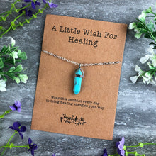 Load image into Gallery viewer, Crystal Necklace - A Little Wish For Healing-The Persnickety Co