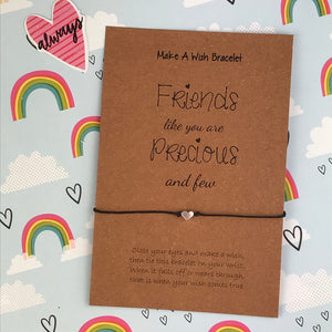 Friends Like You Are Precious And Few Heart Wish Bracelet-2-The Persnickety Co