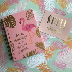 Be A Flamingo Notebook-The Persnickety Co