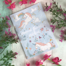 Load image into Gallery viewer, A6 Unicorn Notebook-The Persnickety Co