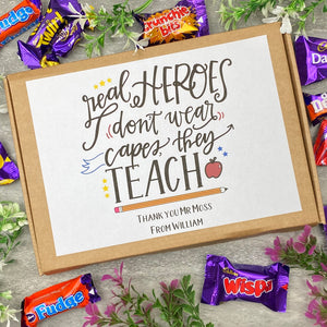 Real Heroes Don't Wear Capes, They Teach - Chocolate Heroes Box-The Persnickety Co