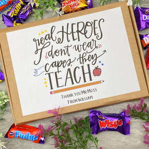 Real Heroes Don't Wear Capes, They Teach - Chocolate Heroes Box-5-The Persnickety Co
