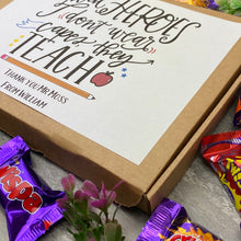 Load image into Gallery viewer, Real Heroes Don't Wear Capes, They Teach - Chocolate Heroes Box-6-The Persnickety Co
