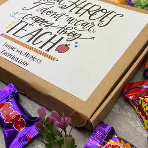 Real Heroes Don't Wear Capes, They Teach - Chocolate Heroes Box-6-The Persnickety Co