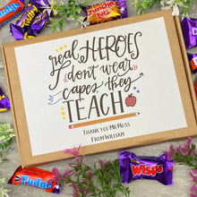 Load image into Gallery viewer, Real Heroes Don't Wear Capes, They Teach - Chocolate Heroes Box-8-The Persnickety Co
