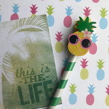Load image into Gallery viewer, Pineapple and Flamingo Tropical Pencil Set-4-The Persnickety Co