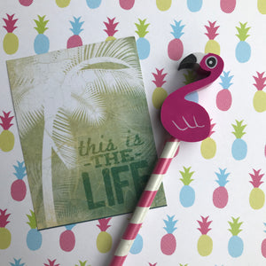 Pineapple and Flamingo Tropical Pencil Set-5-The Persnickety Co